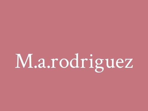 M.a.rodriguez