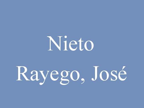 Nieto Rayego, José