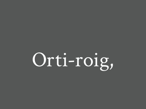 Orti-roig,