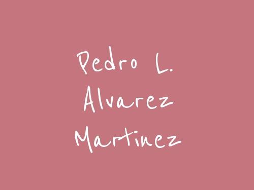 Pedro L. Alvarez Martinez