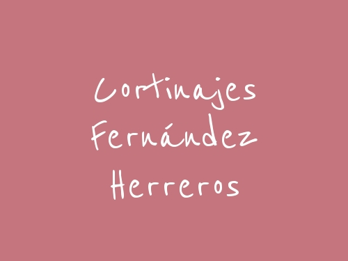 Cortinajes Fernández Herreros