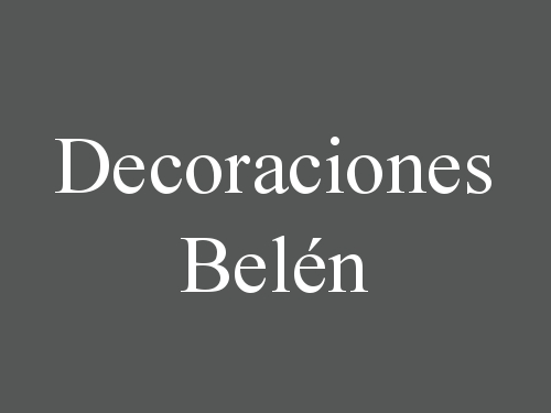 Decoraciones Belén
