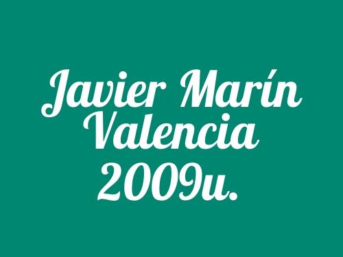 Javier Marín Valencia 2009u.