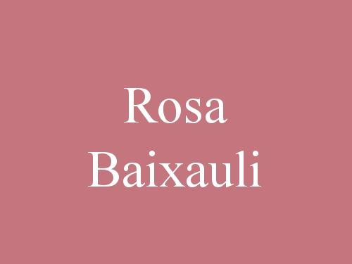 Rosa Baixauli