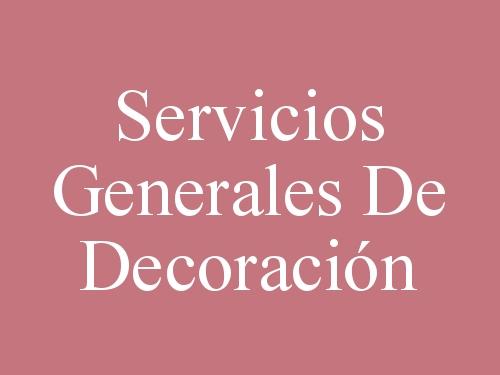 Servicios Generales De Decoración
