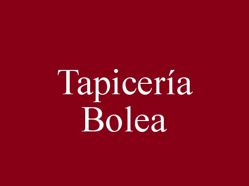 Tapicería Bolea