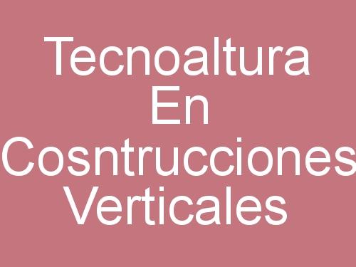 Tecnoaltura En Cosntrucciones Verticales