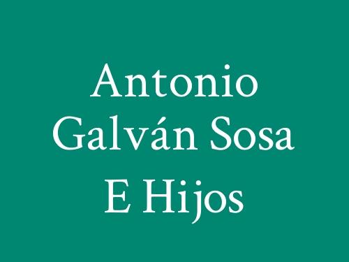 Antonio Galván Sosa E Hijos