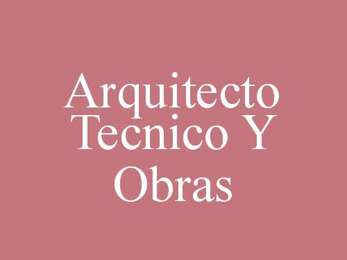 Arquitecto Tecnico Y Obras