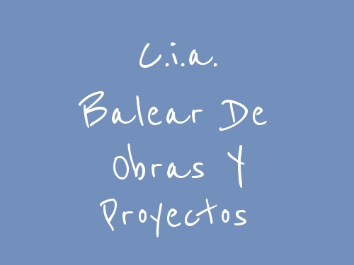 C.i.a. Balear De Obras Y Proyectos