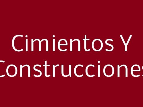Cimientos Y Construcciones
