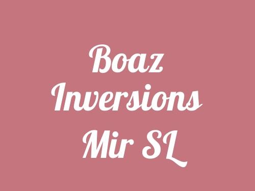 Boaz Inversions Mir SL