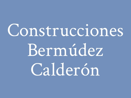 Construcciones Bermúdez Calderón