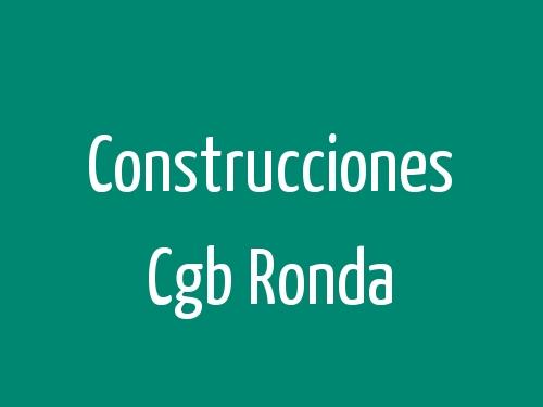 Construcciones Cgb Ronda