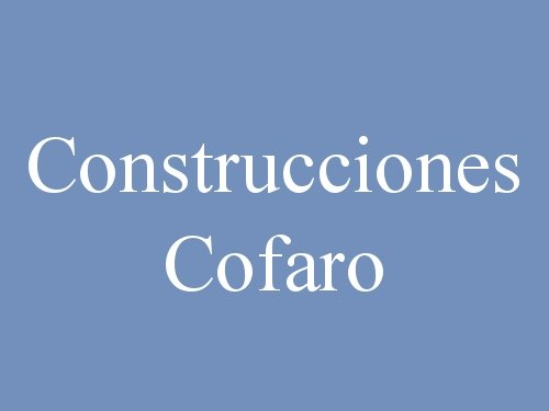 Construcciones Cofaro