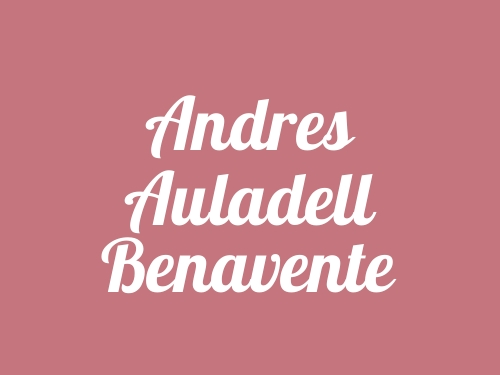 Andres Auladell Benavente