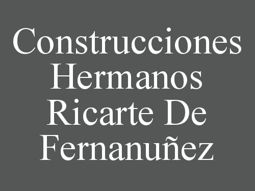 Construcciones Hermanos Ricarte De Fernanuñez