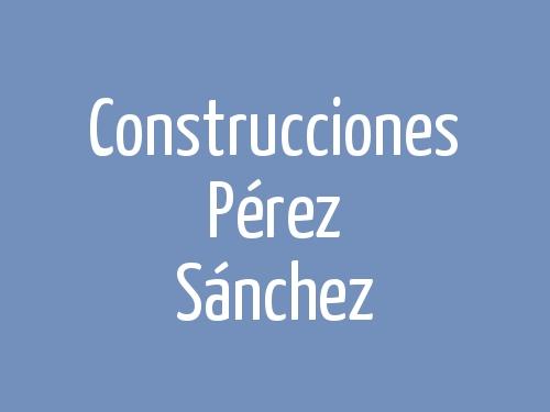 Construcciones Pérez Sánchez