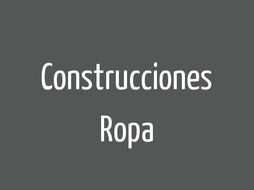 Construcciones Ropa