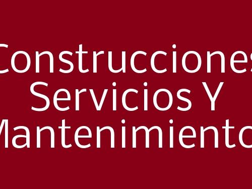 Construcciones Servicios Y Mantenimientos