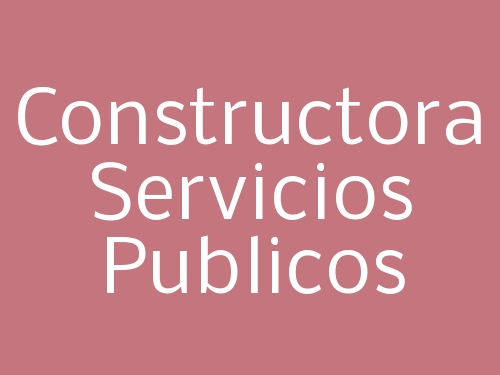 Constructora Servicios Publicos