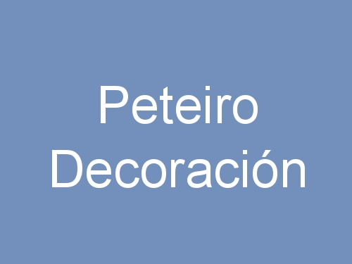 Peteiro Decoración