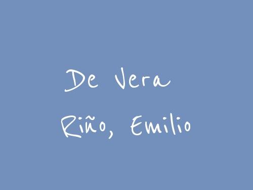 De Vera Riño, Emilio