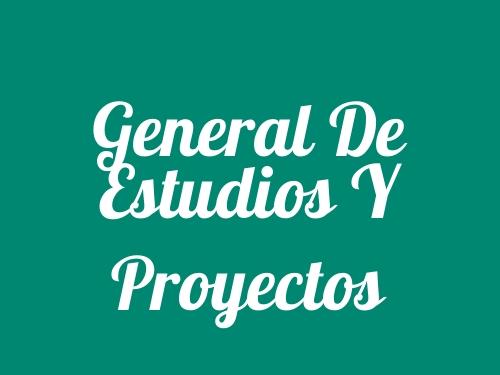 General De Estudios Y Proyectos