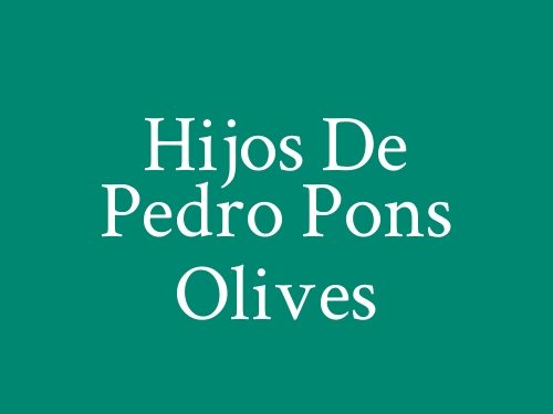 Hijos De Pedro Pons Olives