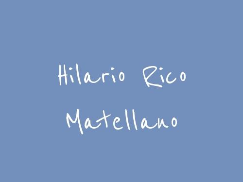 Hilario Rico Matellano