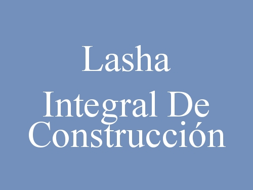 Lasha Integral De Construcción