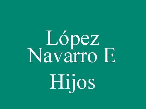 López Navarro E Hijos