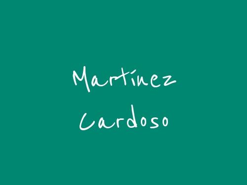 Martínez Cardoso
