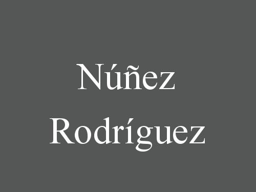 Núñez Rodríguez
