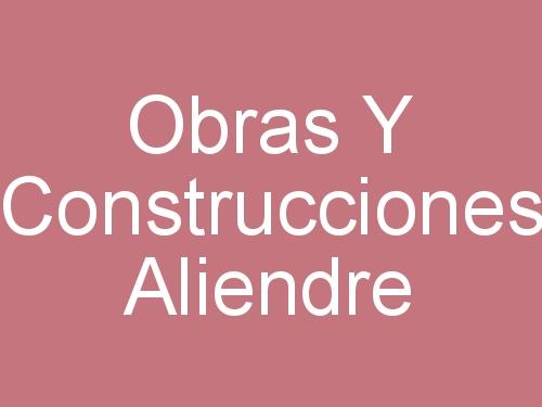 Obras Y Construcciones Aliendre