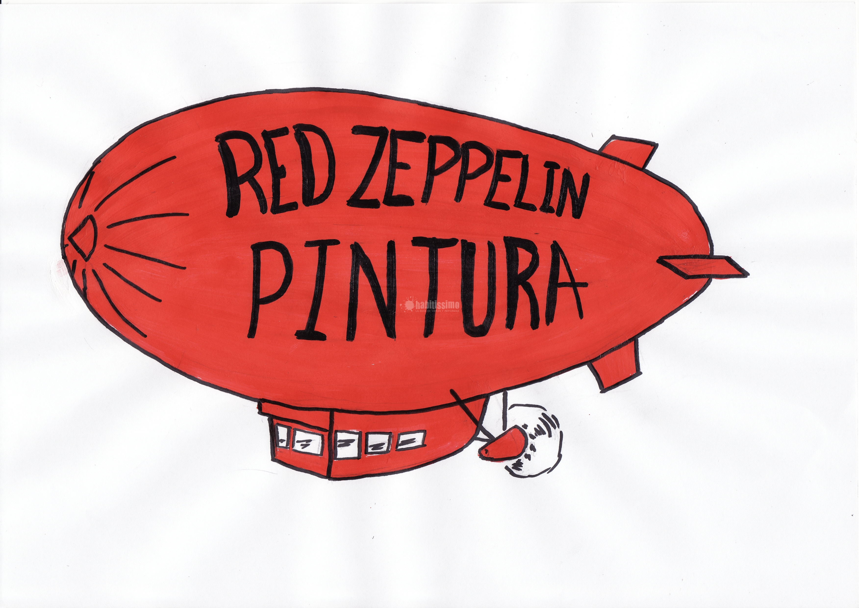 Red Zeppelin Pintura