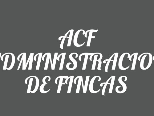 ACF ADMINISTRACION DE FINCAS