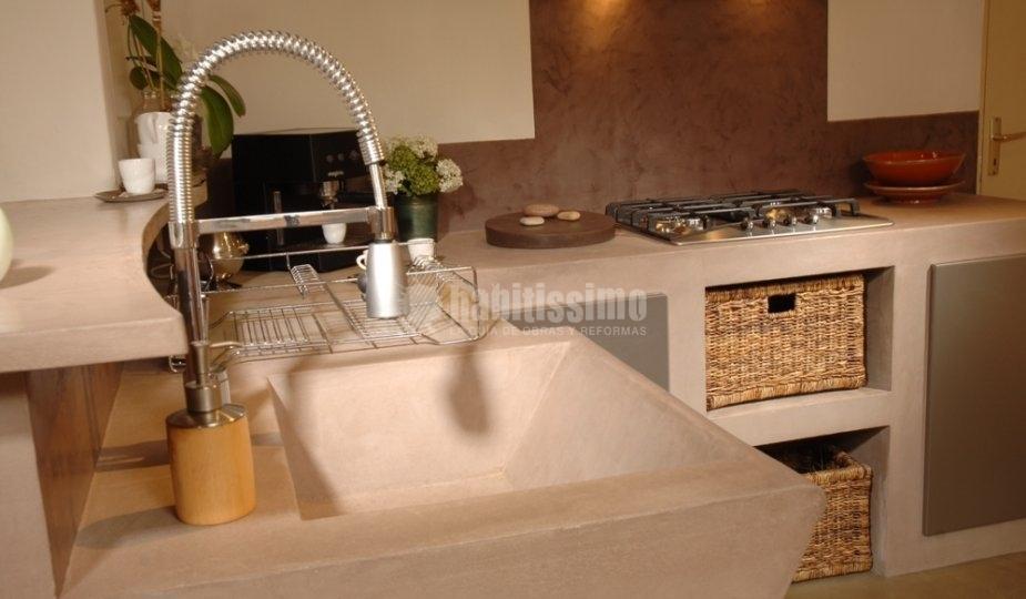 cocina de cemento pulido en tono claro otra muestra de la de este material cocina concreto pulido pinterest cocina de cemento