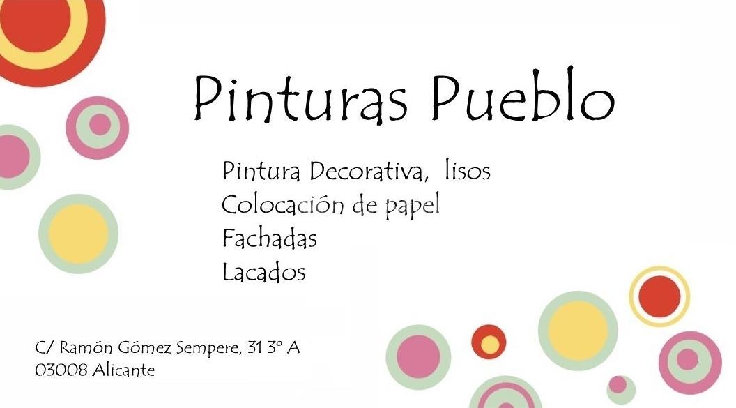 Decoración Pinturas Pueblo. Pintores