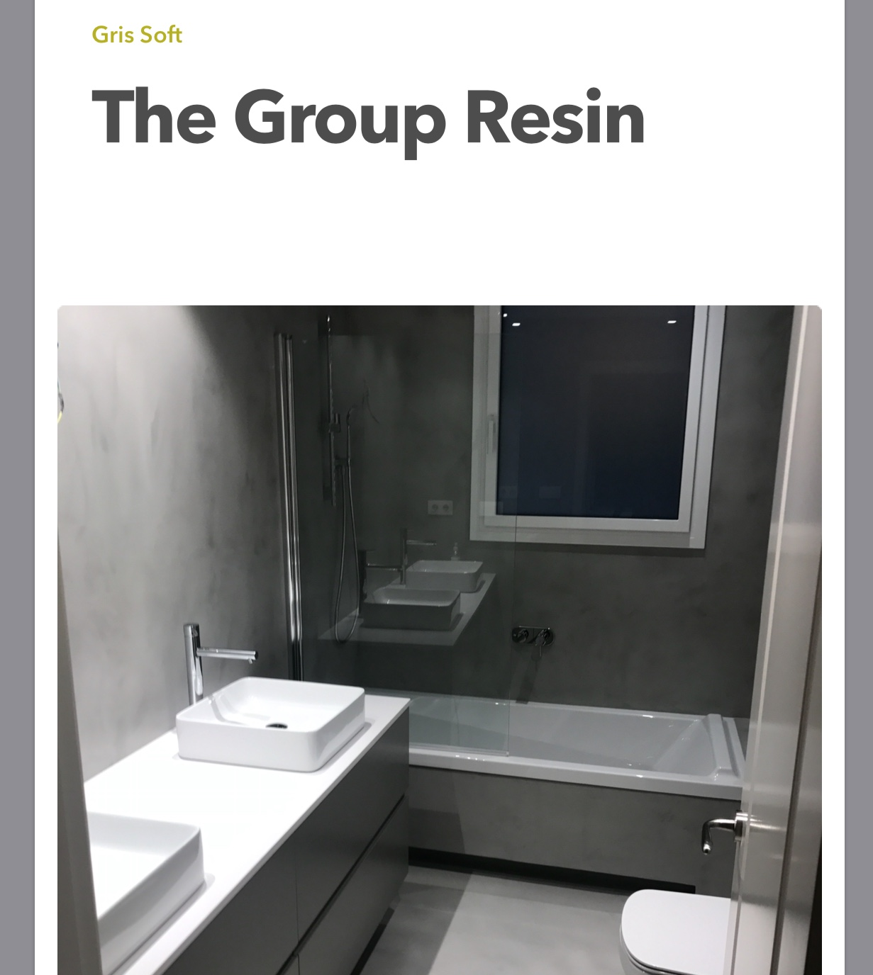 THE GROUP RESIN