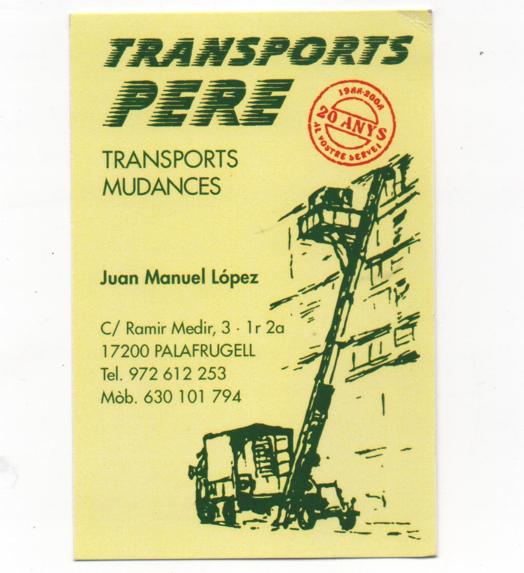Transportes Y Mudanzas Pere