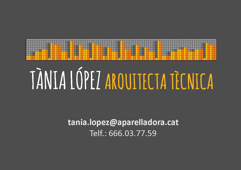 Tània López - Arquitecta Tècnica