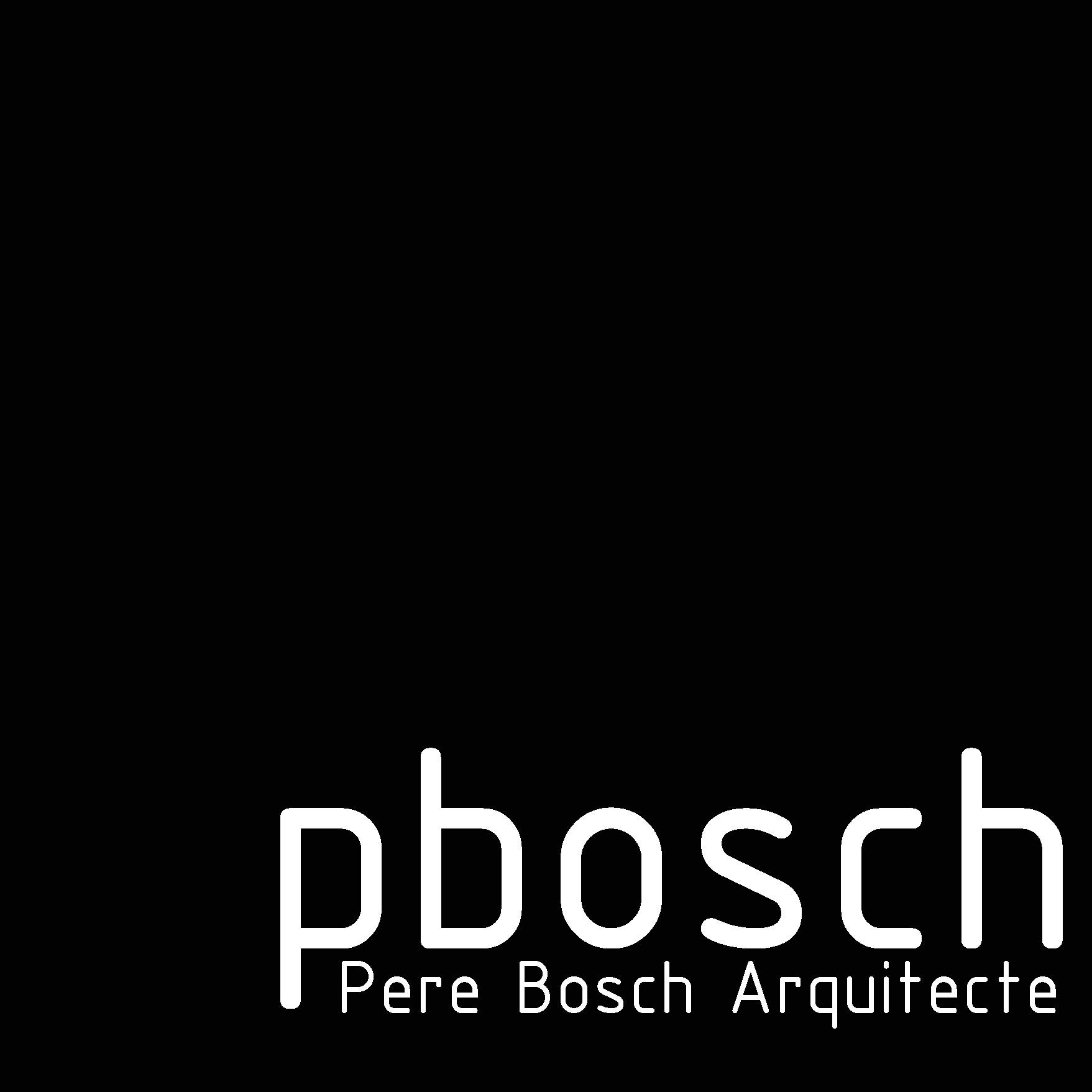 Pere Bosch, Arquitecte
