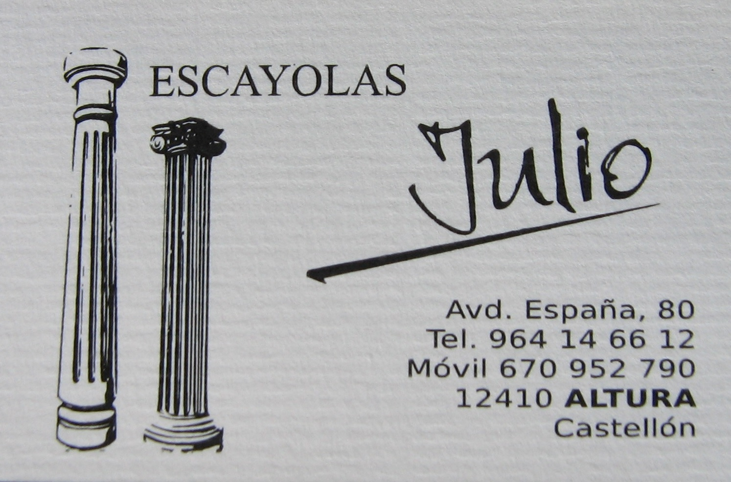 Escayolas Julio