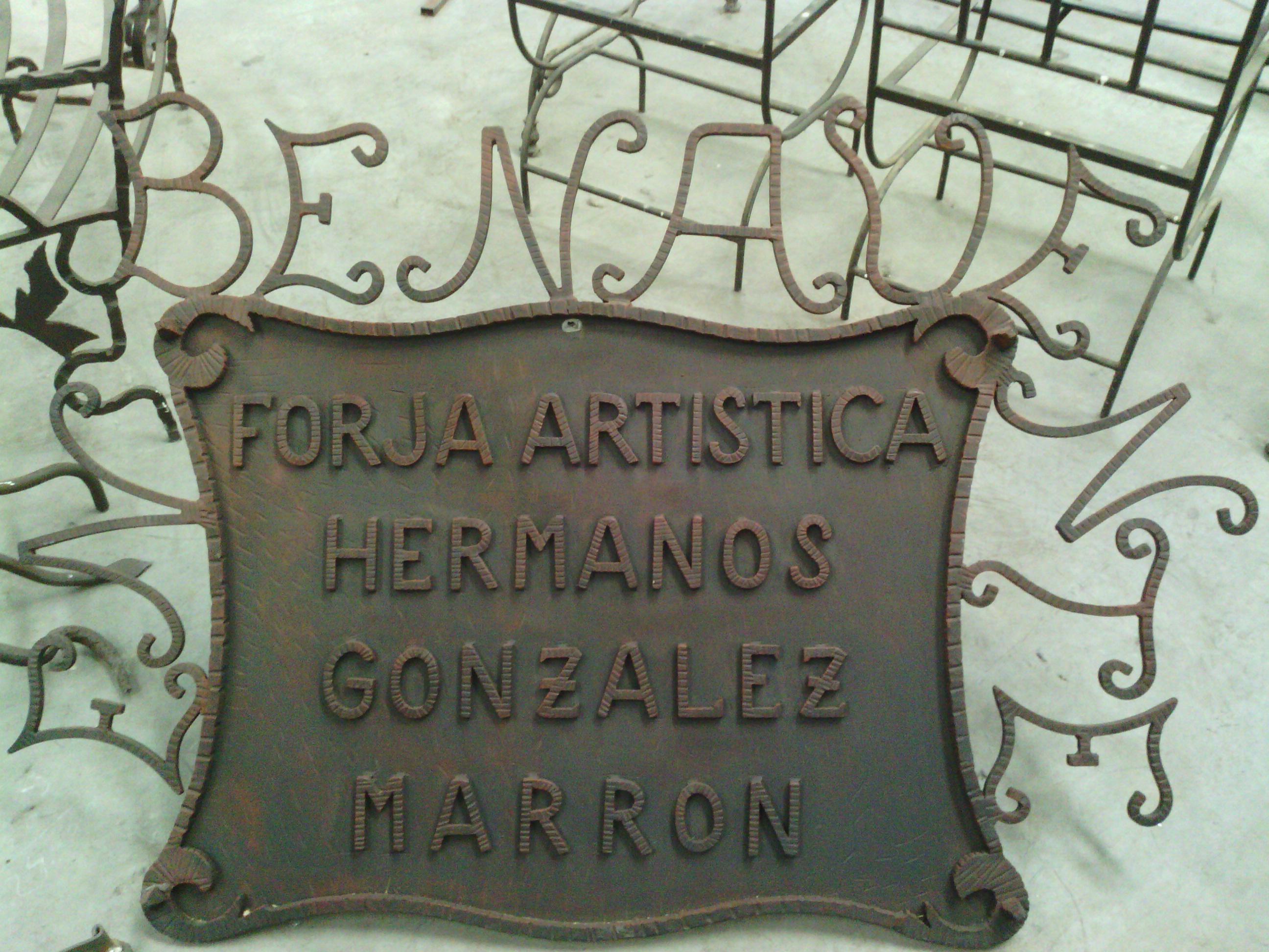 """Hnos González Marrón """"forja Artística Cerrajeria Y Artesanía"""""""