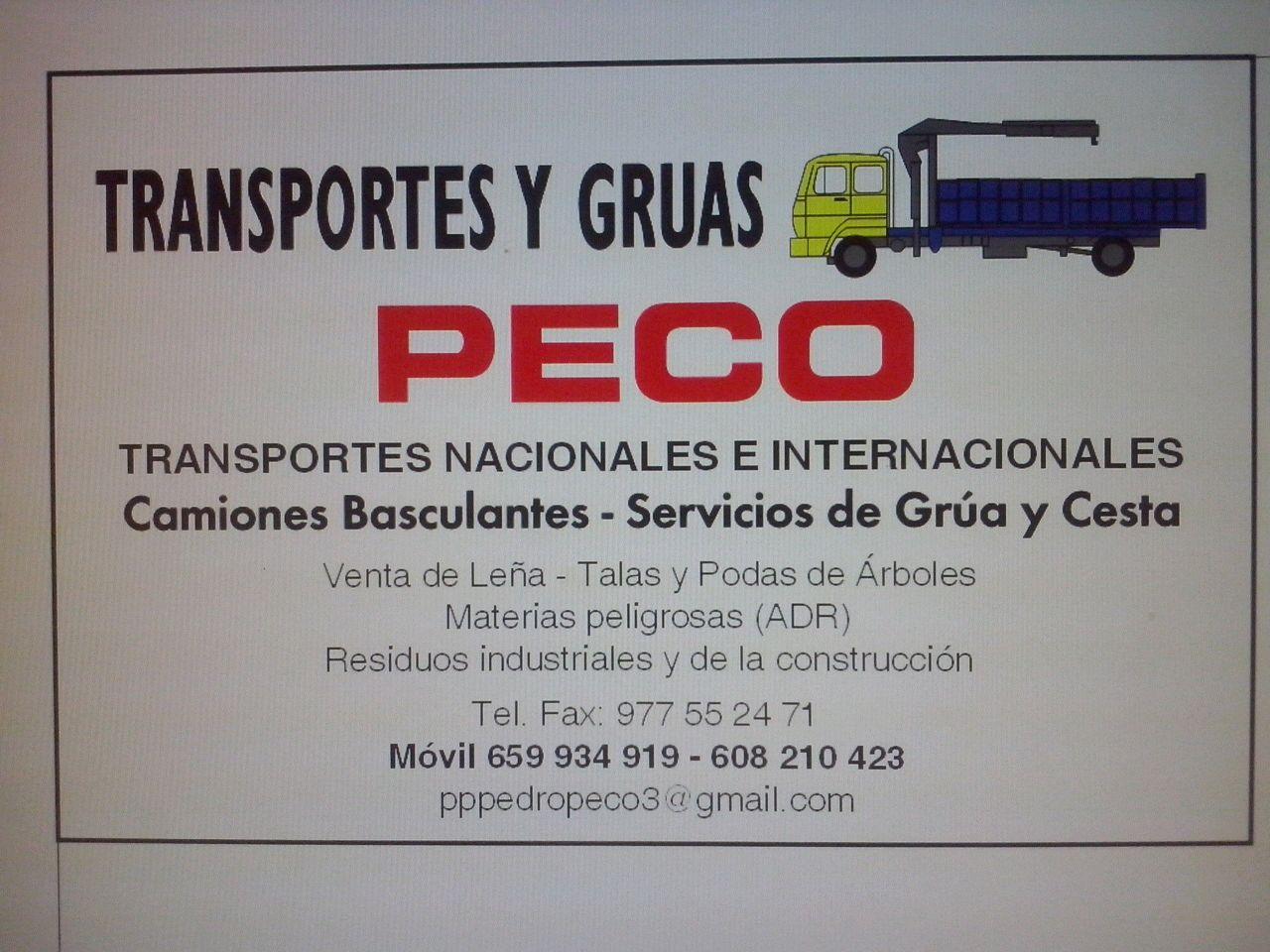 Transportes y Grúas Peco