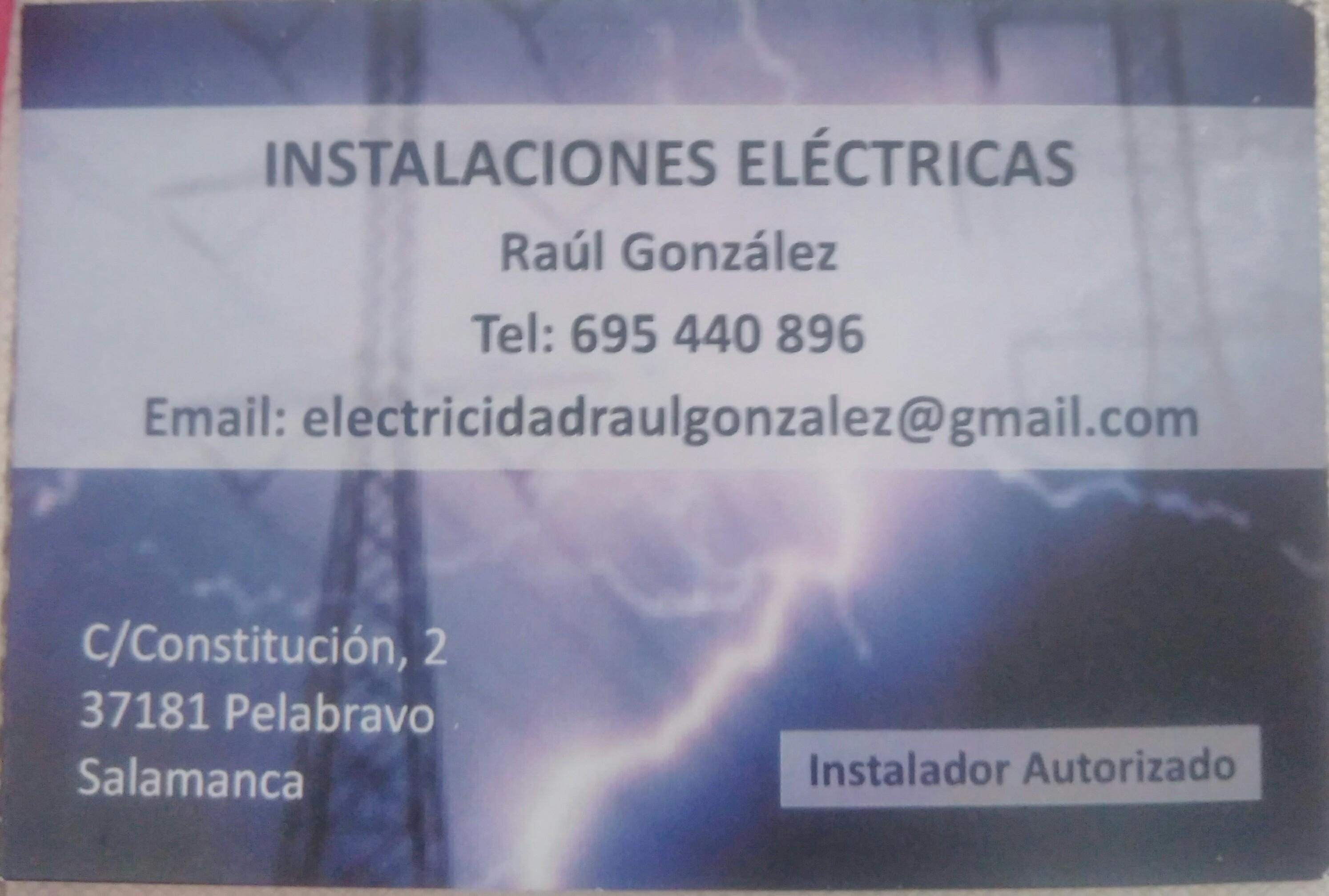 Instalaciones eléctricas raul gonzalez