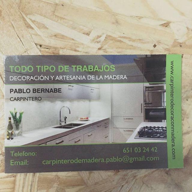 Carpintería Ebanistería Pablo Bernabe