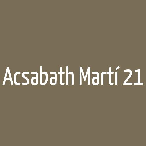 Acsabath Martí 21