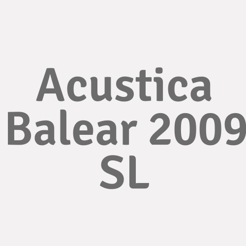 Acústica Balear